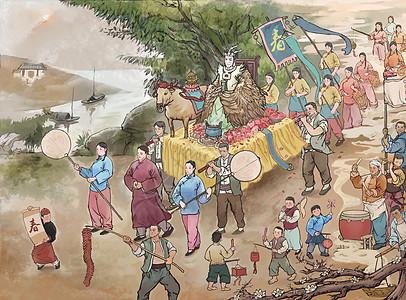 立春打泥牛插畫圖片下載-正版圖片400100067-攝圖網