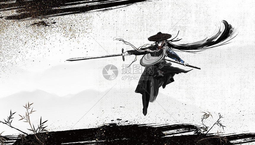 武俠中國風背景圖片素材-正版創意圖片400830618-攝圖網