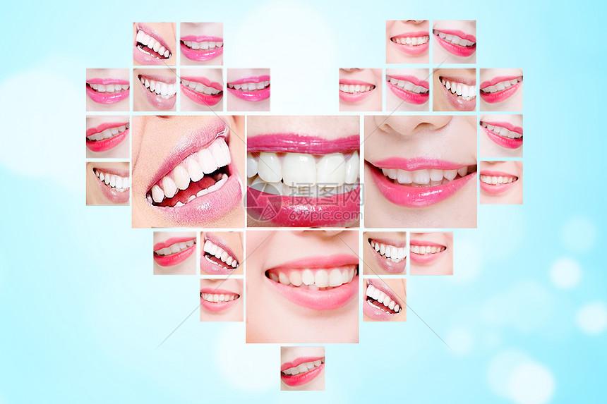 創意牙齒心形圖片素材-正版創意圖片500737477-攝圖網