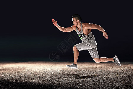 男人跑步跳躍動作高清圖片下載-正版圖片501028923-攝圖網