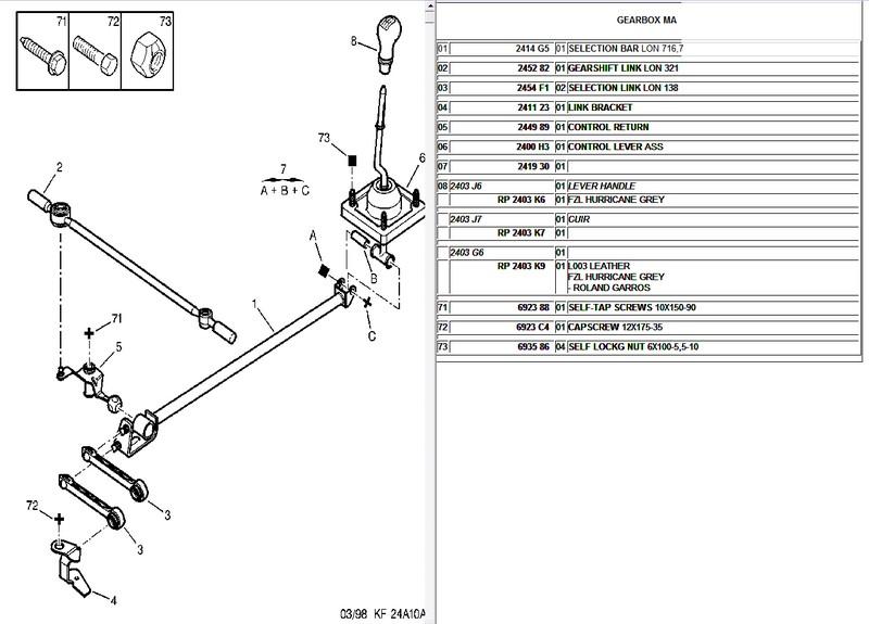 [VDS] kit biellettes de boite MA rotulées neuf