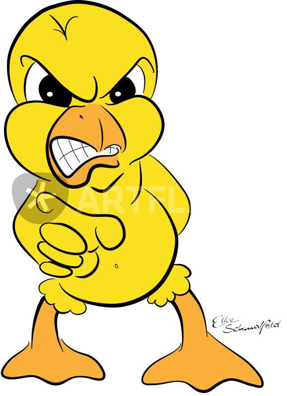 Grumpy Chicken  zorniges Kken Comic als Poster und