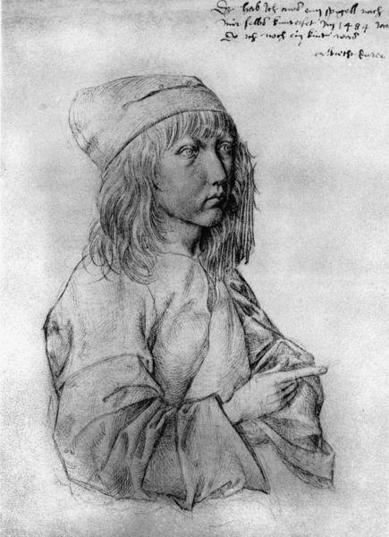 Duerer Selbstbildnis  Zeichnung 1484 Bild als Poster