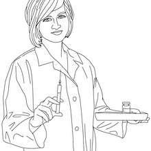 ممرّضة : صفحة تلوين, فيديو للأطفال, أعمال يدويّة للأطفال