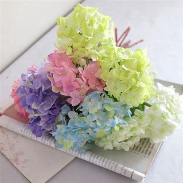 Artificial Flower Hydrangea Silk Bridal Bouquet Party Home Wedding Decor 5Colors
