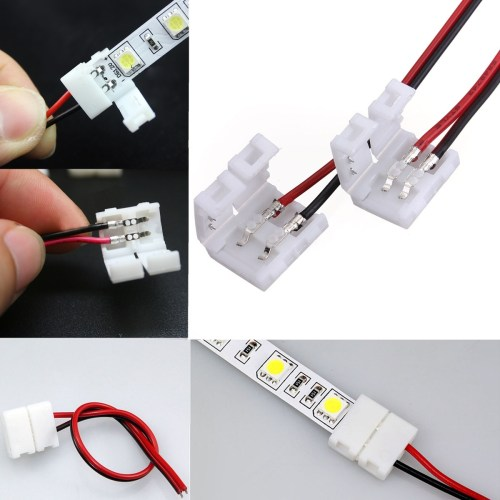 small resolution of 2 pins power connector adaptor for 3528 5050 led strip wire with pcb