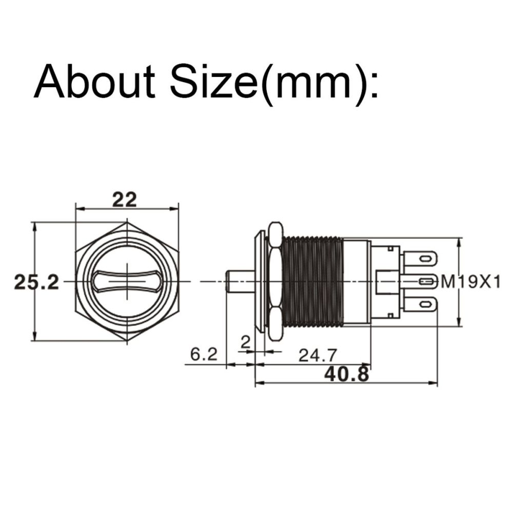 medium resolution of 19mm 3 position 12v waterproof stainless steel latching metal selector switch