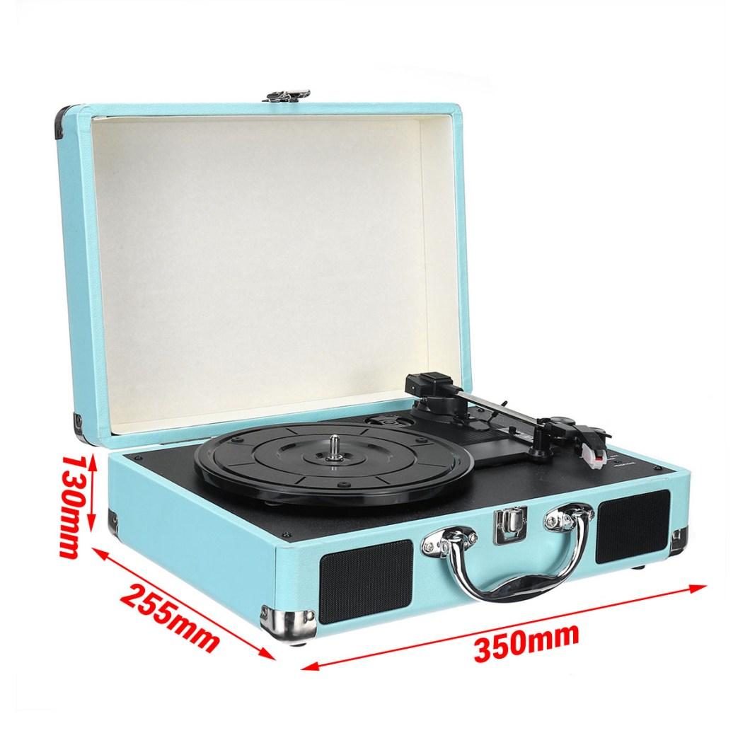 Vintage Vinyl LP Record Player Stereo Turntable 3Speed 2 Speakers Radio Recorder 41