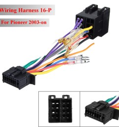 16pin car stereo radio wiring harness connector plug iso pi100 for pioneer wiring harness walmart 16pin [ 1200 x 1200 Pixel ]