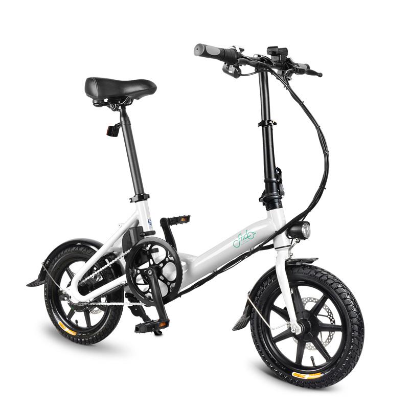 fiido d3 36v 5.2ah 250w 14 tum fällbar moped cykel 25km