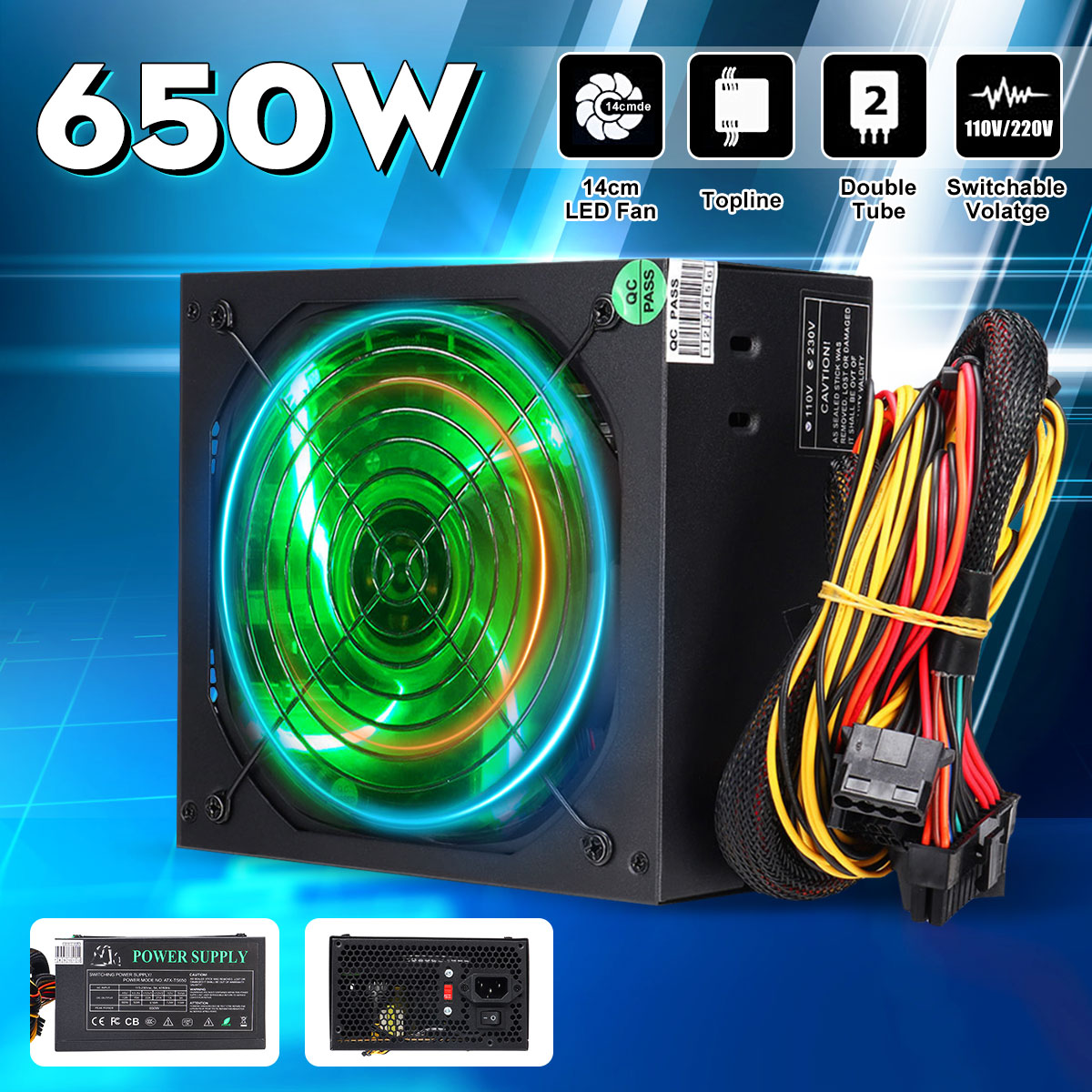 hight resolution of  wiring diagram 650w pc computer power supply module unit 24pin sata quiet green led atx power supply schematic