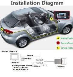 170 waterproof 4 led hd ccd car backup rear view reverse camera night vision [ 1200 x 1200 Pixel ]