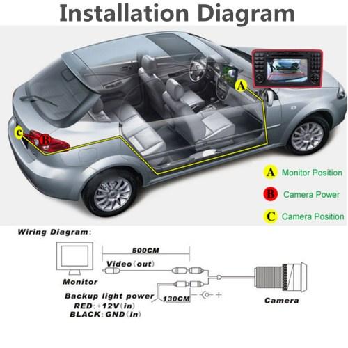 small resolution of 170 waterproof 4 led hd ccd car backup rear view reverse camera night vision