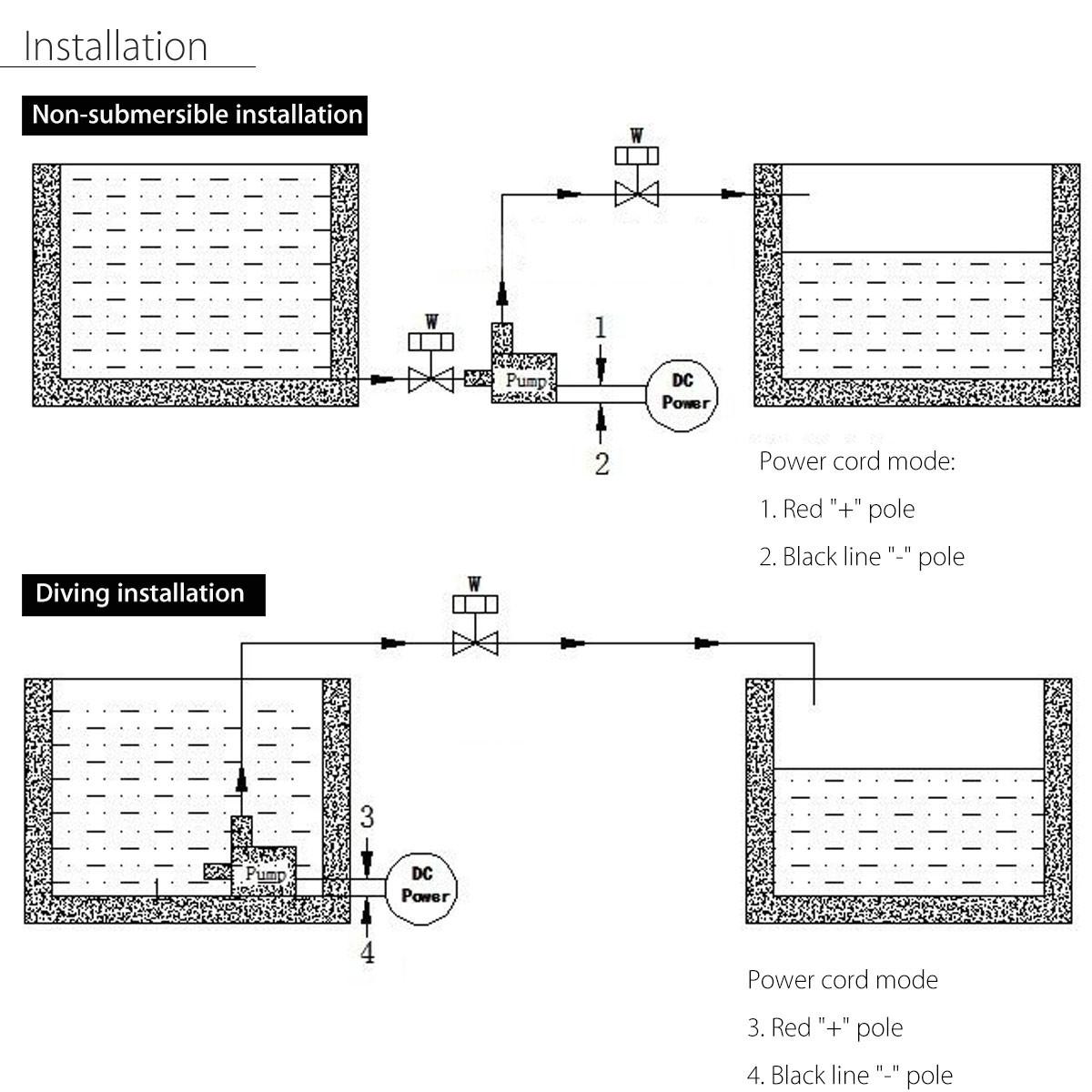 800l H 12v Dc 5m Submersible Hot Water Circulation Pump