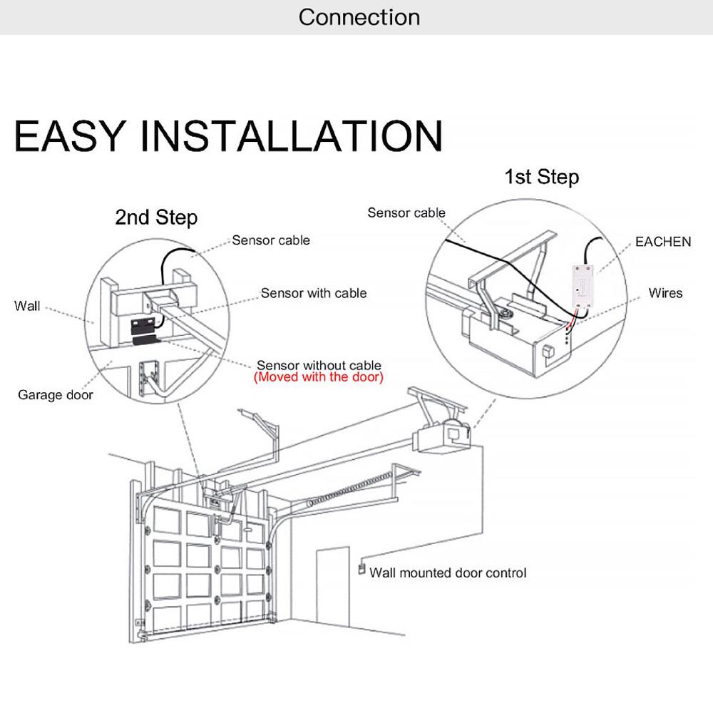 moeshouse wifi smart switch garage door controller opener