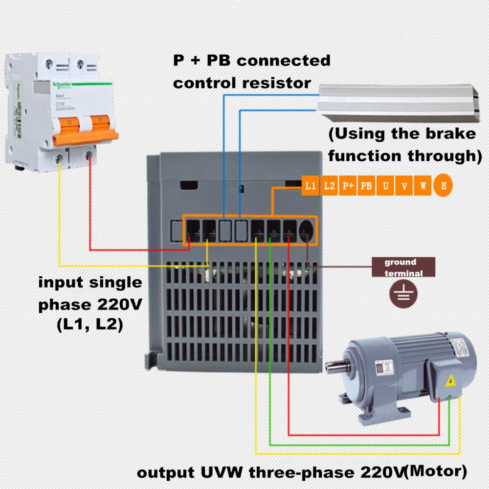 medium resolution of  2 2kw 3ph 380v vfd inverter vfd drive variable frequency drive for on vfd s converting motor vfd wiring diagram