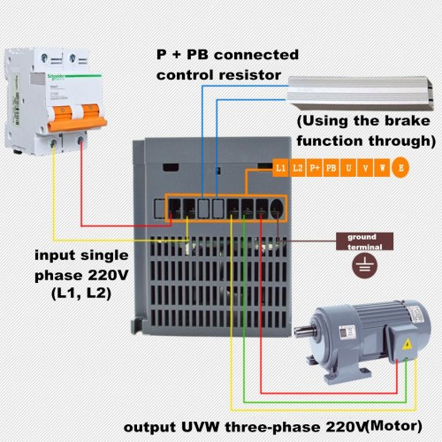 small resolution of  2 2kw 3ph 380v vfd inverter vfd drive variable frequency drive for on vfd s converting motor vfd wiring diagram