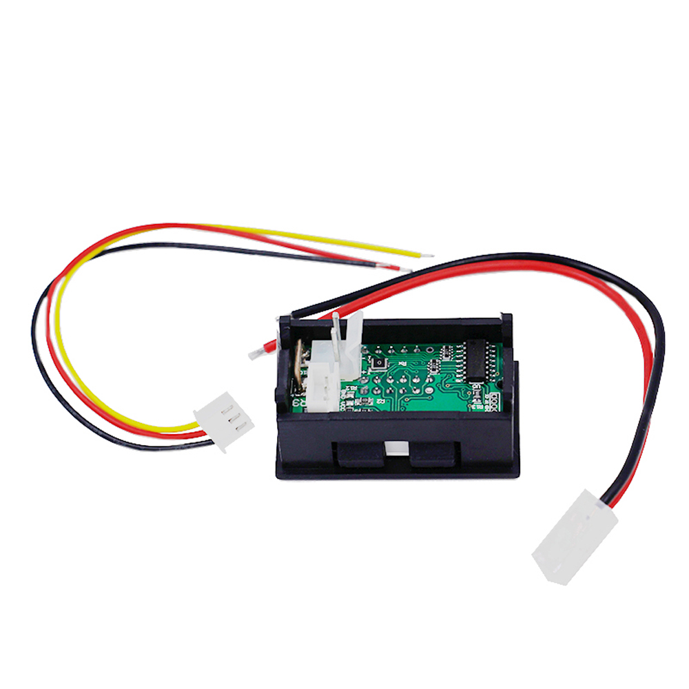 medium resolution of digital voltmeter ammeter car current meter dual display 100v 10a dc the ammeter has a red wire and a yellow wire