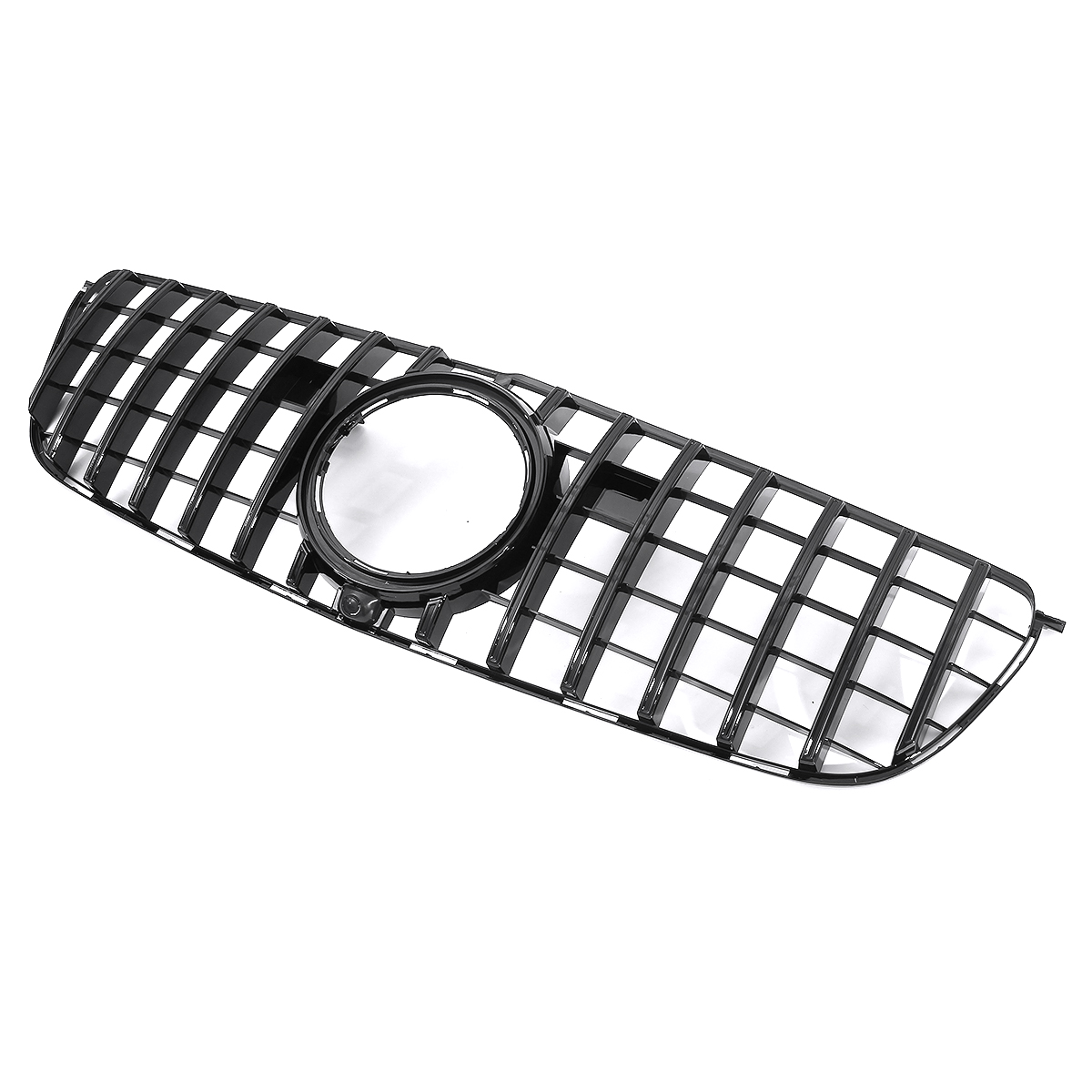 Glossy black gtr style front grill grille for mercedes