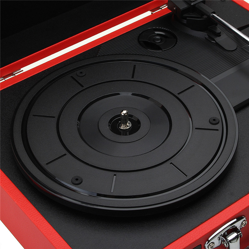 V1 bluetooth Portable Suitcase Record Player 3-Speed Aux-in MP3 Record Player With Speaker 37