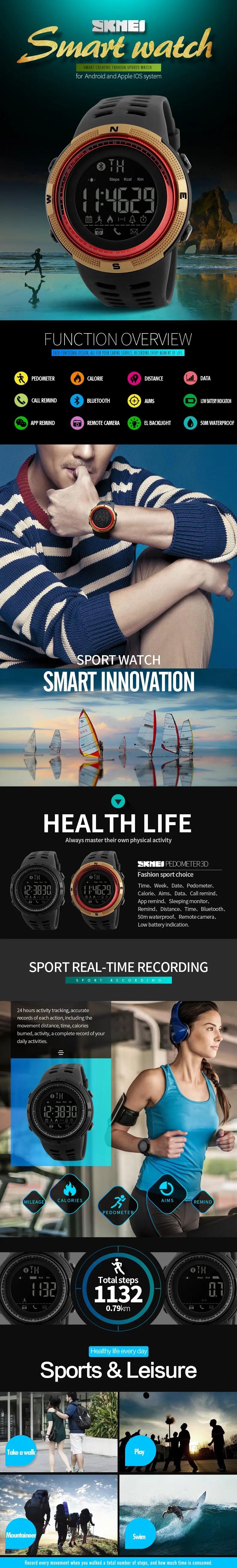 skmei 1250 smart watch a1a1ae5d 64d4 4a89 b459 3f7c3719f16d.jpg   Online In Pakistan