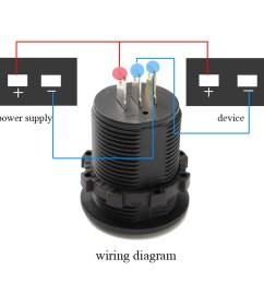 dc 12v 24v car voltmeter ammeter led display digital voltage meter [ 1200 x 1200 Pixel ]