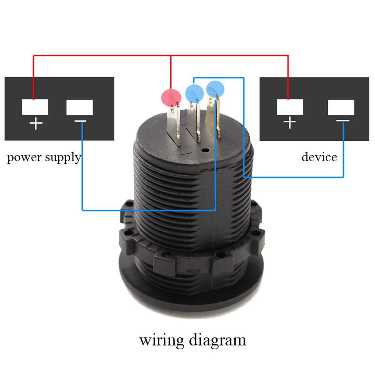 hight resolution of dc 12v 24v car voltmeter ammeter led display digital voltage meter