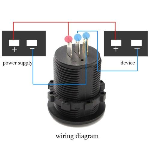 small resolution of dc 12v 24v car voltmeter ammeter led display digital voltage meter