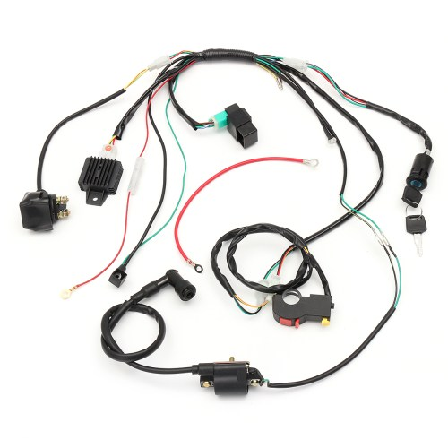 small resolution of wiring harness loom solenoid coil rectifier cdi for 50cc 70cc 90cc 110cc 125cc atv quad dirt