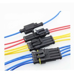 15 kits 2 3 4 pins way sealed waterproof electrical wire connector plug motorcycle car auto [ 1200 x 1200 Pixel ]