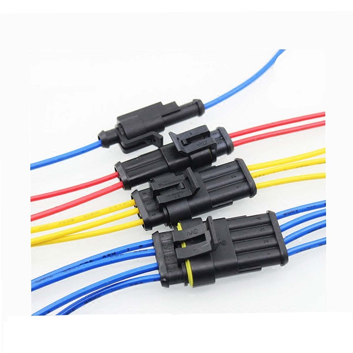 hight resolution of 15 kits 2 3 4 pins way sealed waterproof electrical wire connector plug motorcycle car auto