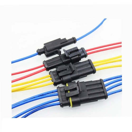 small resolution of 15 kits 2 3 4 pins way sealed waterproof electrical wire connector plug motorcycle car auto