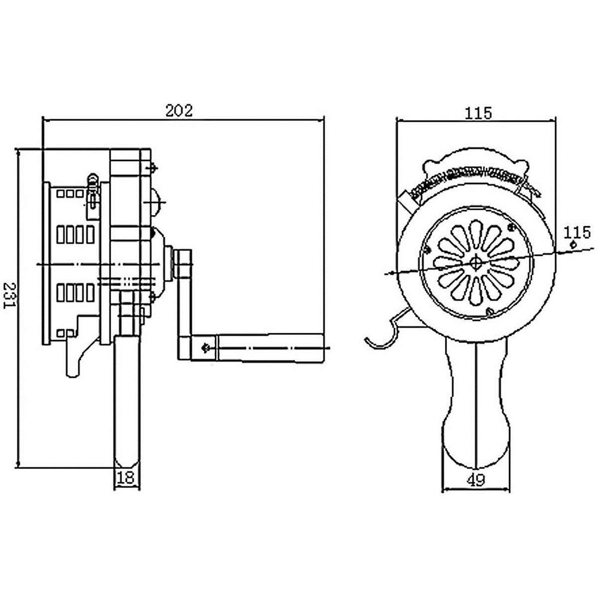 handheld ruidoso de mano de manivela manual operado air