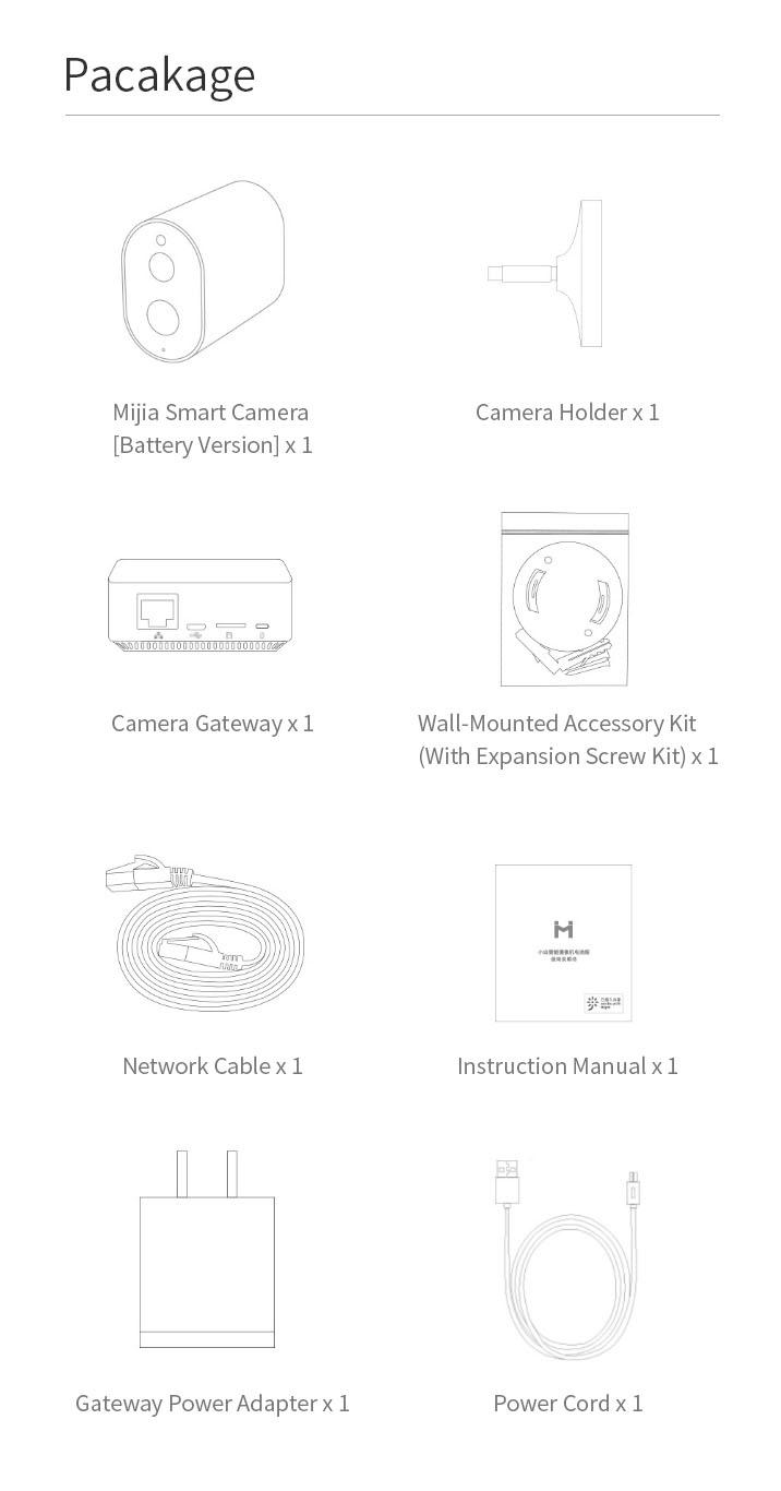 [Battery Version] XIAOMI Mijia CMSXJ11A 1080P Smart