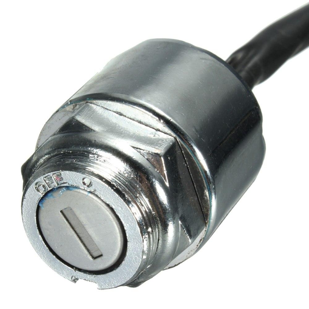 medium resolution of ignition barrel key switch 2 keys 4 pin block connector for atv mini moto dirt bike