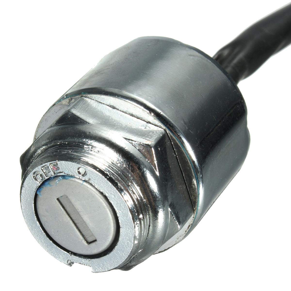 hight resolution of ignition barrel key switch 2 keys 4 pin block connector for atv mini moto dirt bike
