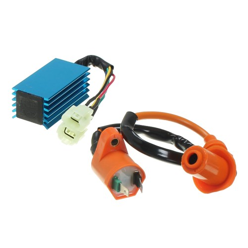 small resolution of ignition coil with 6 pin racing performance ac cdi box for gy6 50cc 150cc scooter