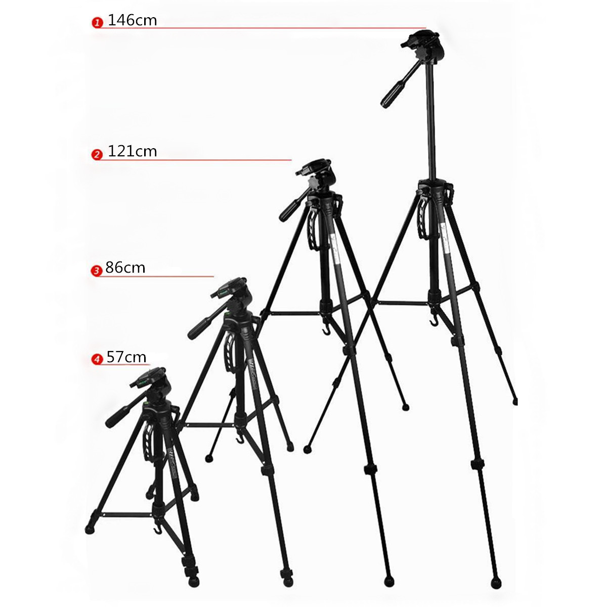 Weifeng Wt Tripod Stand With Carry Case For Digital