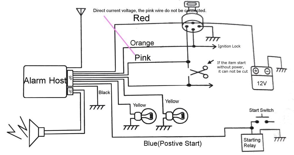 medium resolution of pke motorcycle alarm system