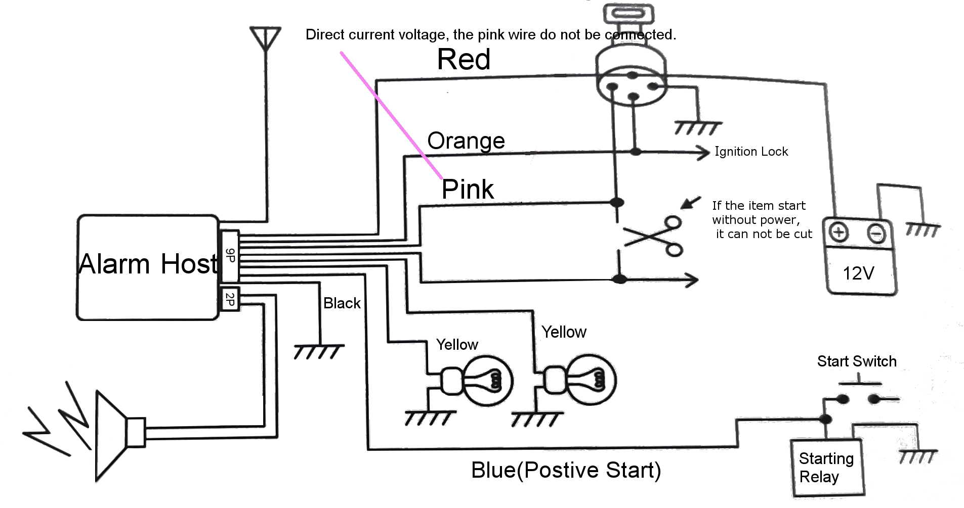hight resolution of pke motorcycle alarm system