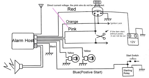 small resolution of pke motorcycle alarm system