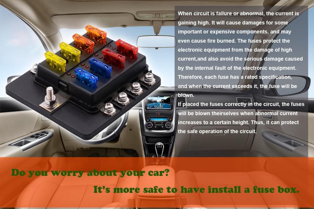 medium resolution of imars 8 way fuse box 12v 32v circuit standard blade block holder kit car caravan