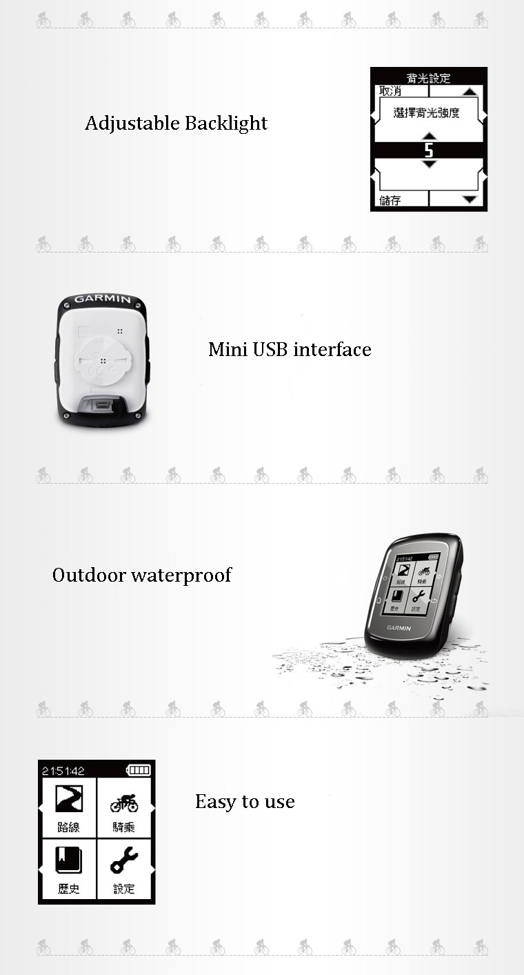 garmin edge 200 outdoor cycling gps wireless waterproof
