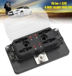12v 24v 4 way blade car fuse box holder with led failure warning lights [ 1200 x 1200 Pixel ]