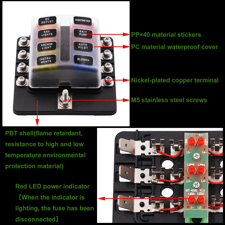 hight resolution of imars 8 way fuse box 12v 32v circuit standard blade block holder kit car caravan
