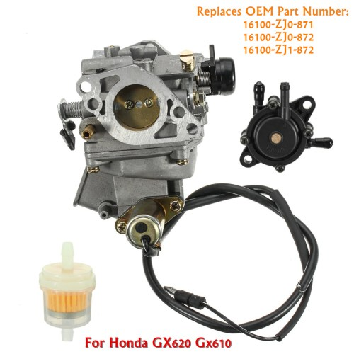 small resolution of carburetor fuel pump gas air filter for honda gx620 20hp gx610 18hp mower engine