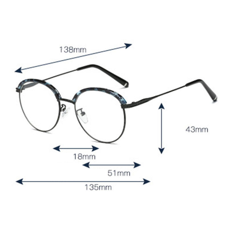 vintage round full frame optical glasses metal glasses at