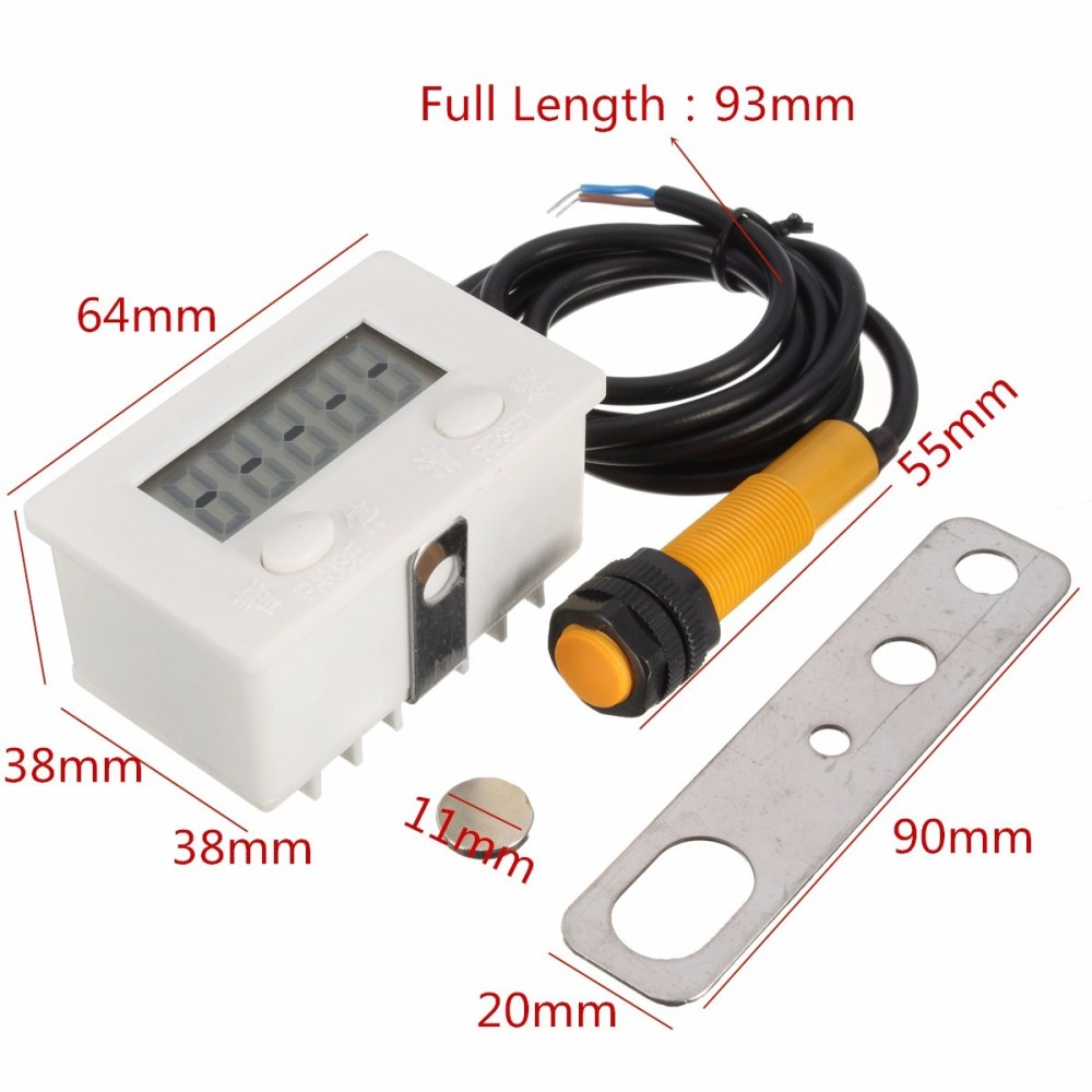 medium resolution of 5 digital electronic counter puncher magnetic inductive proximity switches sale banggood com sold out