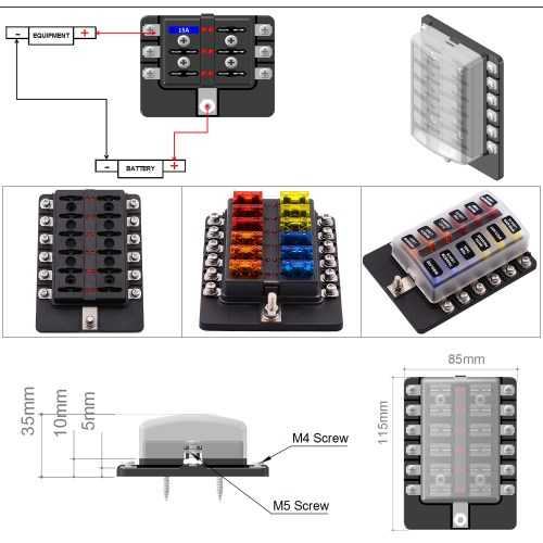 small resolution of imars 12 way fuse box 12v 32v circuit standard blade block holder kit car caravan