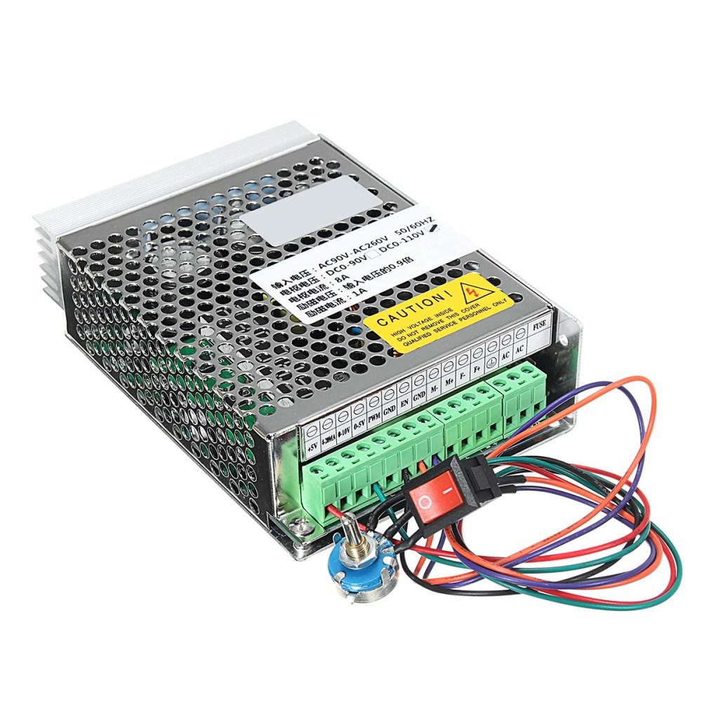 medium resolution of ac90v 260v input dc110v output 8a pwm dc motor speed controller driver speed governor